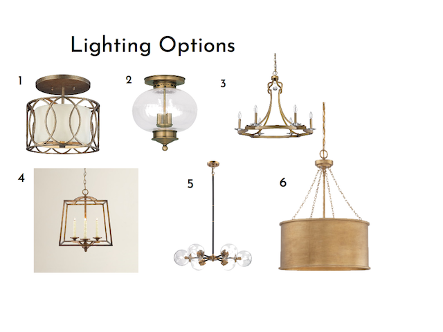 Gold-tone-light-fixtures