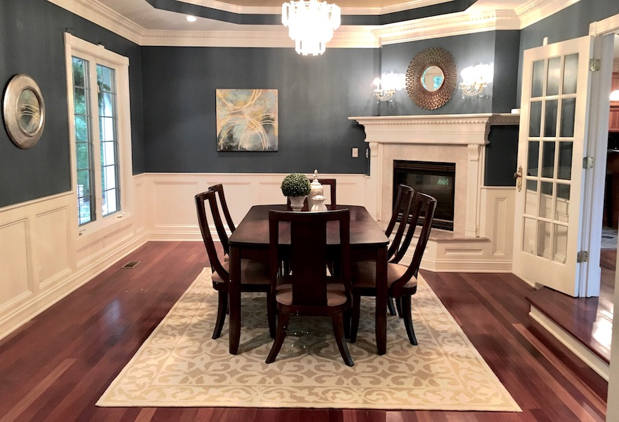 Staged Dining Room - Navy Dining Room