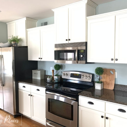 Painted Kitchen Cabinet Makeover Tips