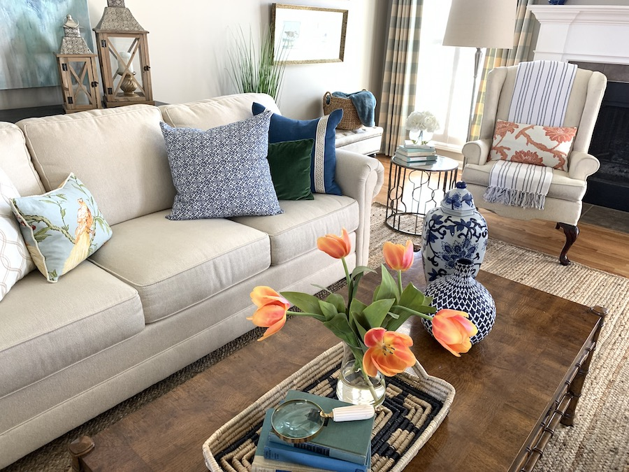 Vibrant Spring Color for Your Living Room