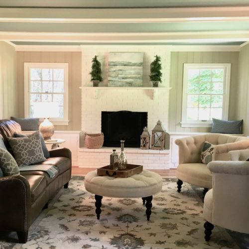 Living Room Staging and Design
