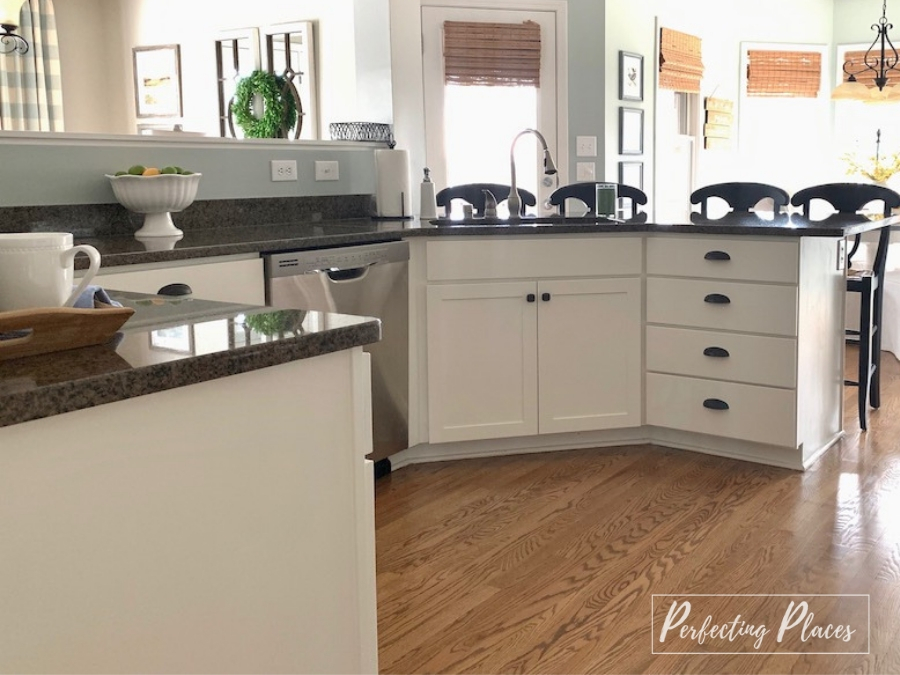 Painted Kitchen Cabinet Makeover