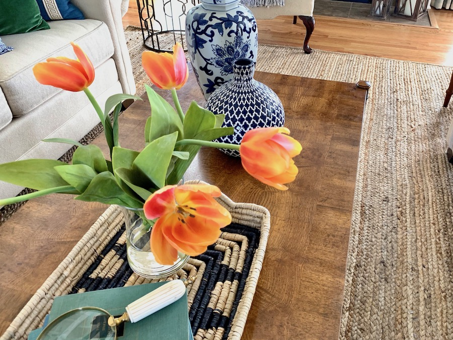 Pops of Spring Color for Your Living Room