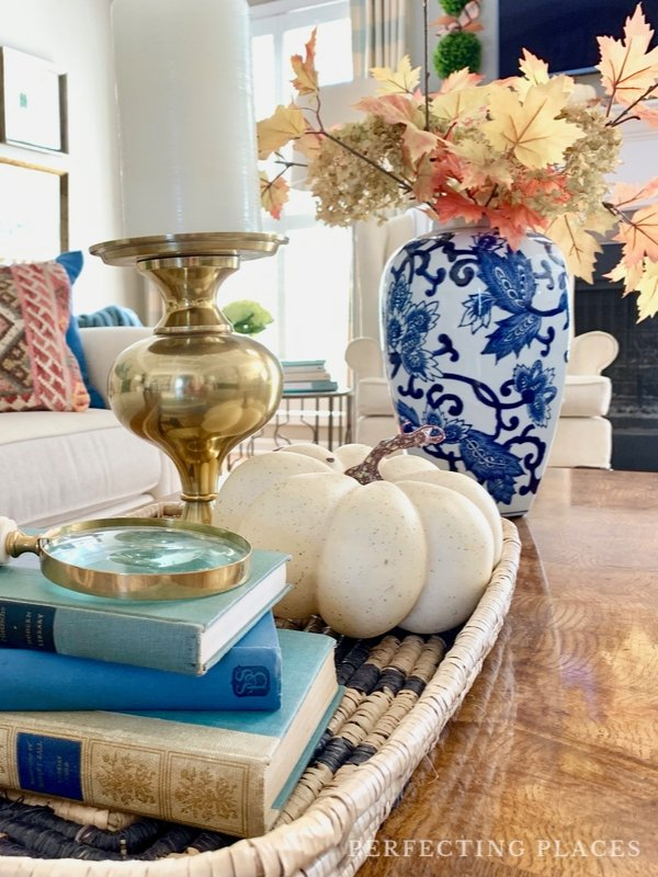 Fall Home Tour -- Coffee Table Decor