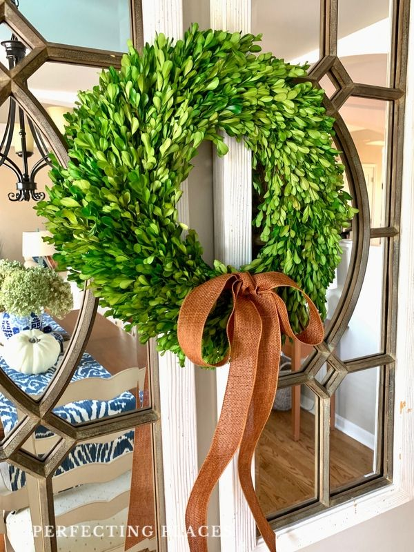 Fall Home Tour -- Fall Boxwood Wreath