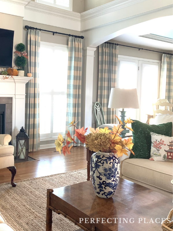 Perfecting Places Living Room Window Treatments
