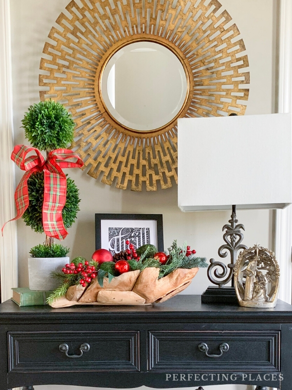 Christmas Decor Foyer Table