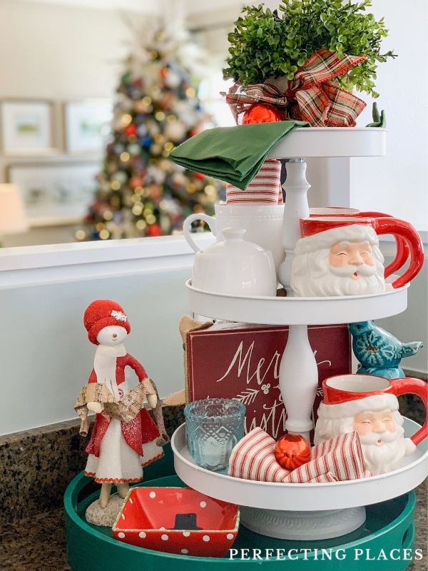 Christmas Three Tiered Tray