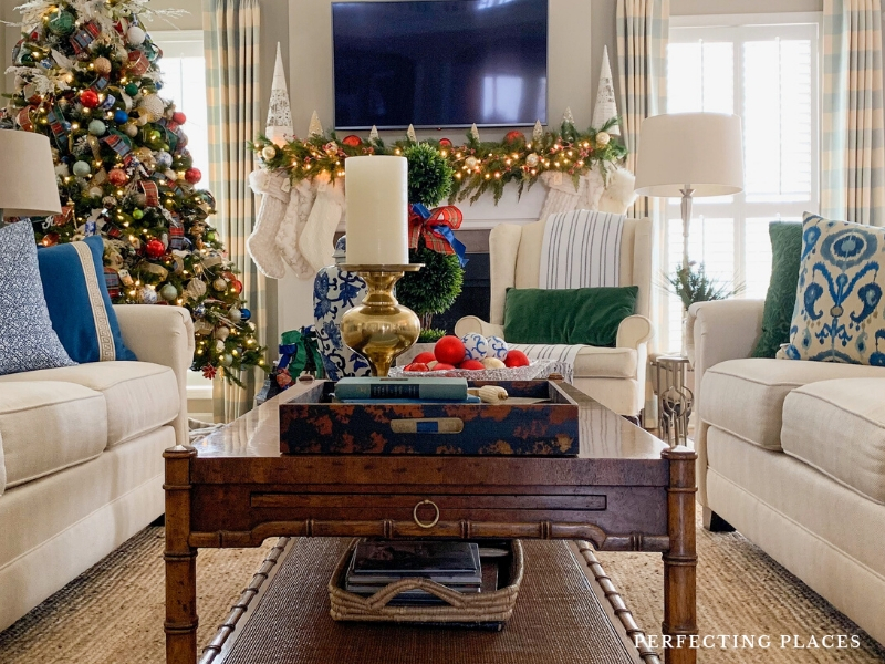Christmas Home Tour Living Room by Perfecting Places