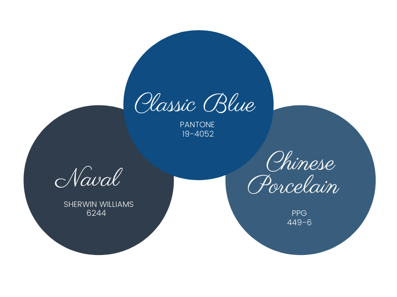 Colors of the Year - Naval - Classic Blue - Chinese Porcelain