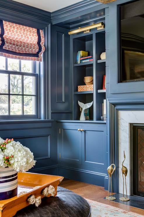 Blue Paneled Walls